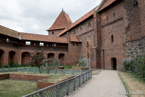 Cortili interni del Castello di Malbork.