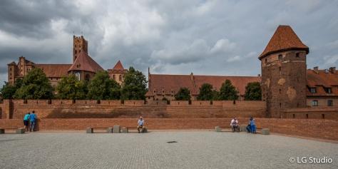 Le mura del Castello di Malbork.