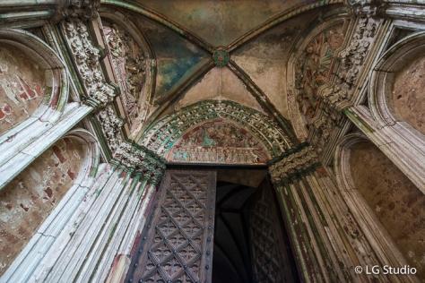 Castello di Malbork: ingresso alla cappella di Sant'Anna