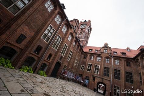 Torun, corte interna dell'edificio comunale.