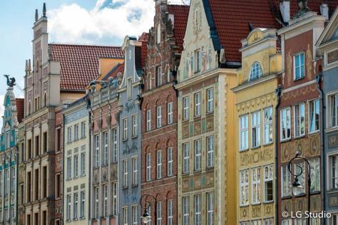 Edifici storici lungo Ulica Dluga.
