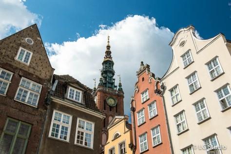 Danzica, edifici del centro storico.