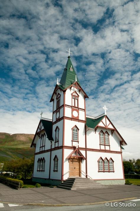 Chiesa in legno Husavik.